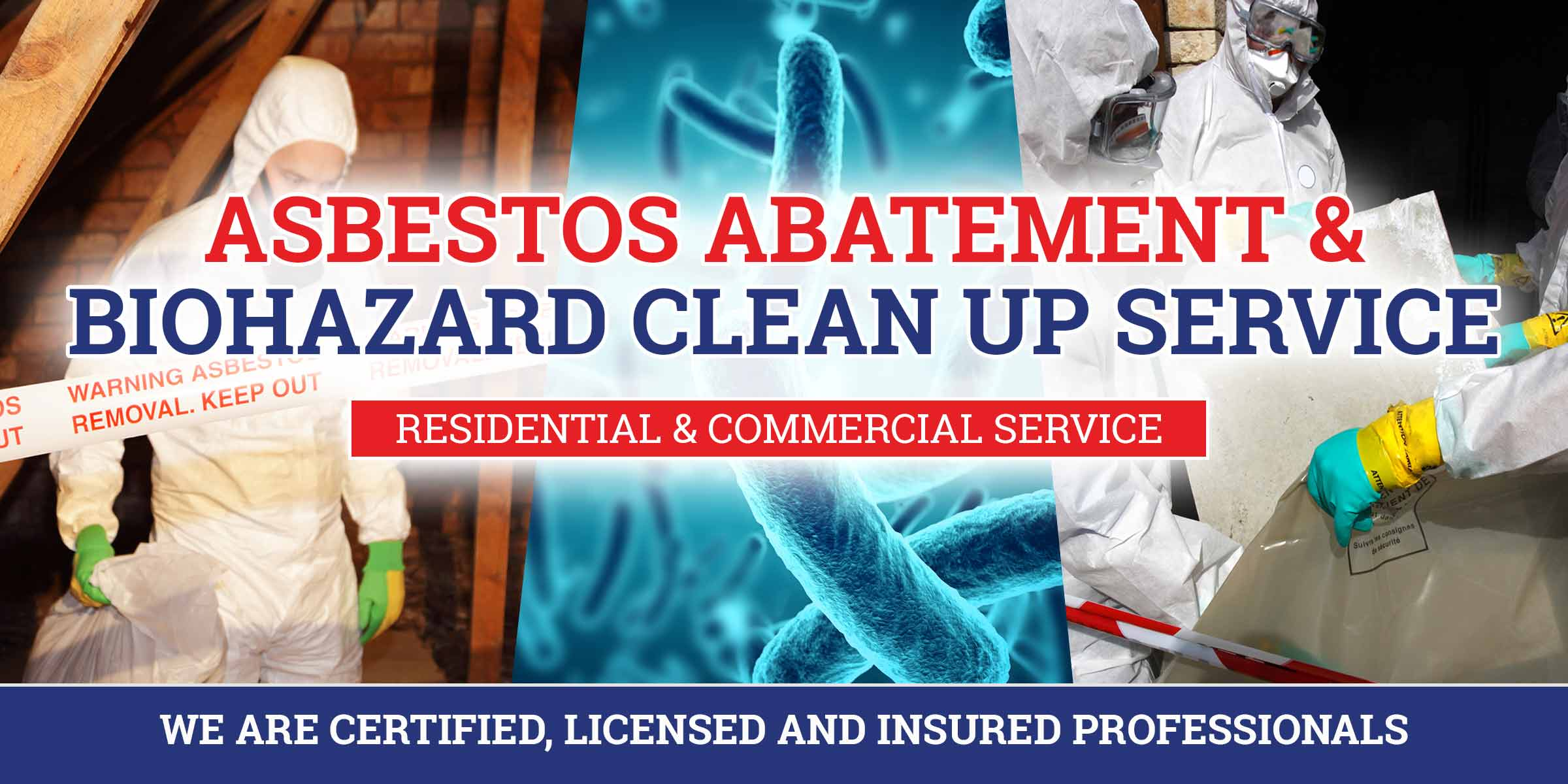 asbestos abatement and biohazard clean up